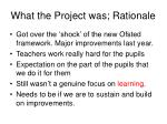 what the project was rationale