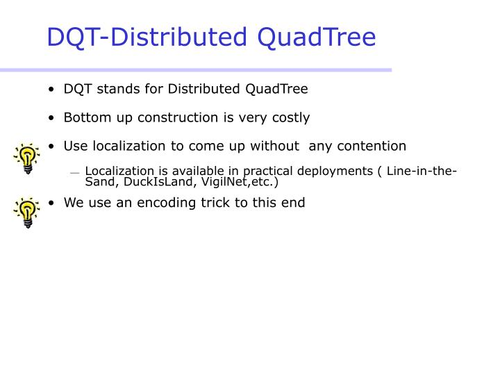 DQT-Distributed QuadTree