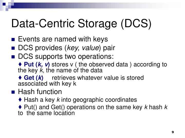 Data-Centric Storage (DCS)