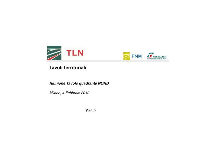 Tavoli territoriali