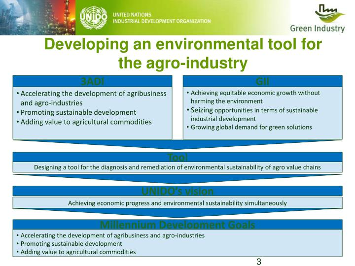 Developing an environmental tool for the agro-industry