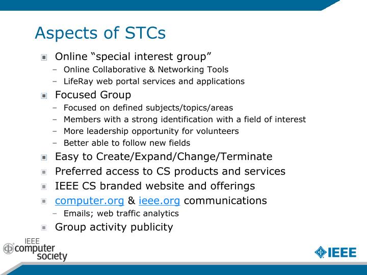 Aspects of STCs