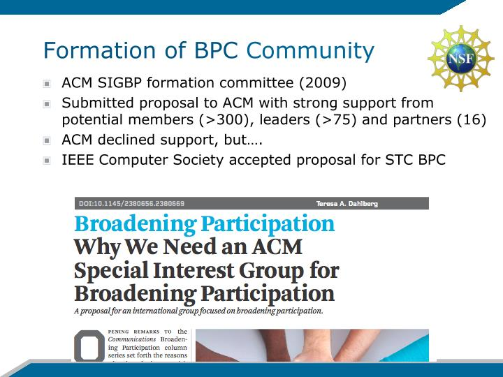 Formation of BPC