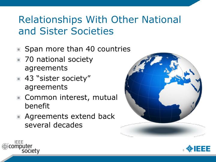 Relationships With Other National and Sister Societies