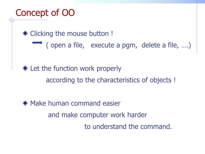 Concept of OO