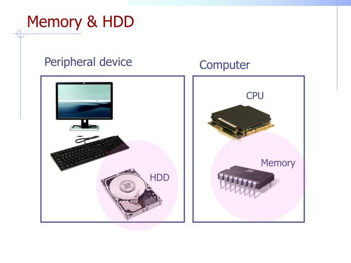 Memory & HDD