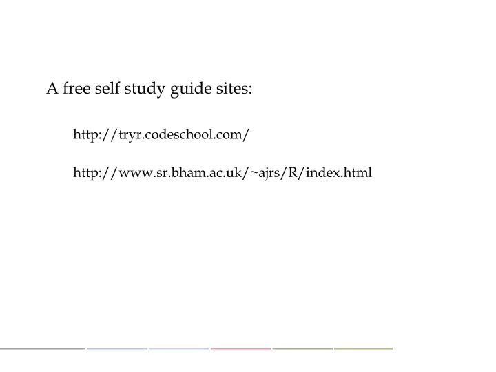 A free self study guide sites: