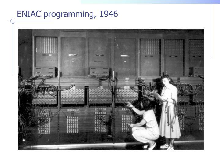 ENIAC programming, 1946