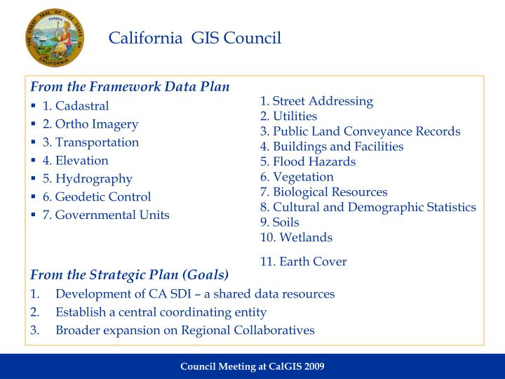 California  GIS Council
