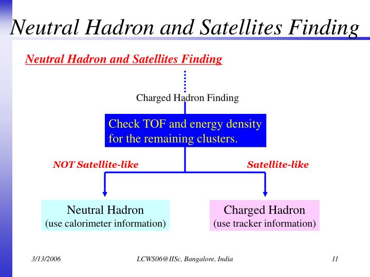 Neutral Hadron and Satellites Finding