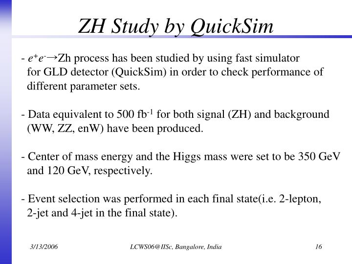ZH Study by QuickSim