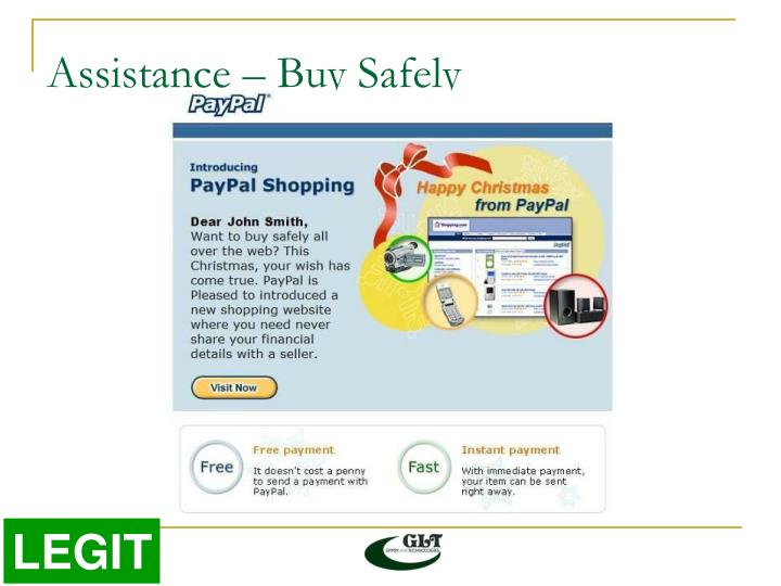 Assistance – Buy Safely