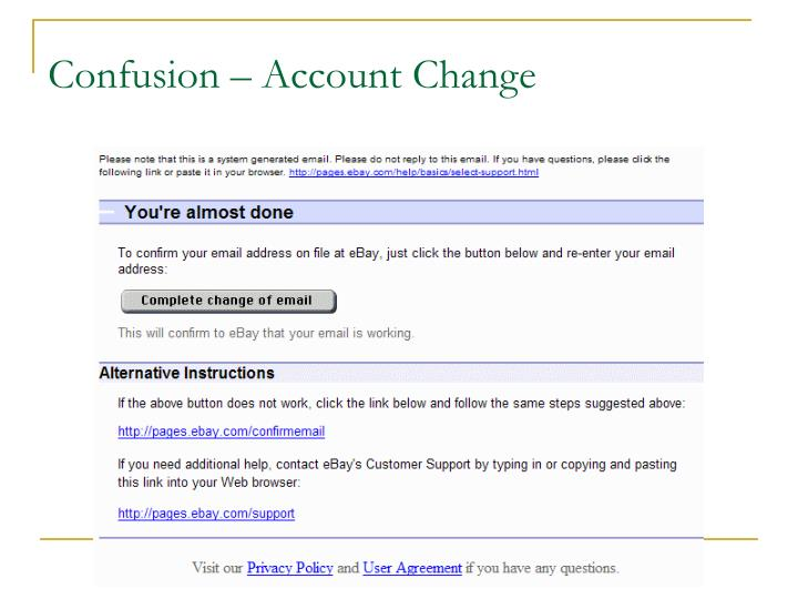 Confusion – Account Change