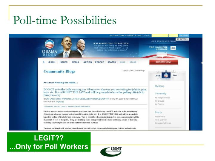 Poll-time Possibilities