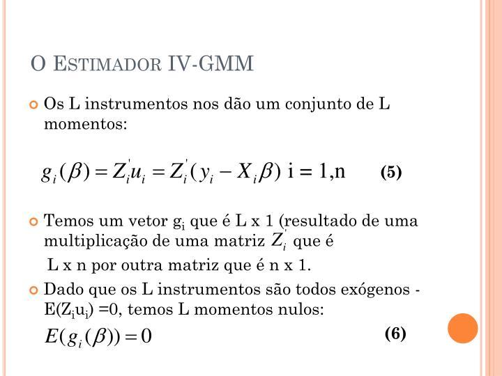 O Estimador IV-GMM
