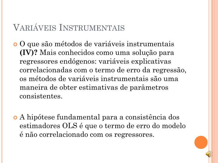 Variáveis Instrumentais