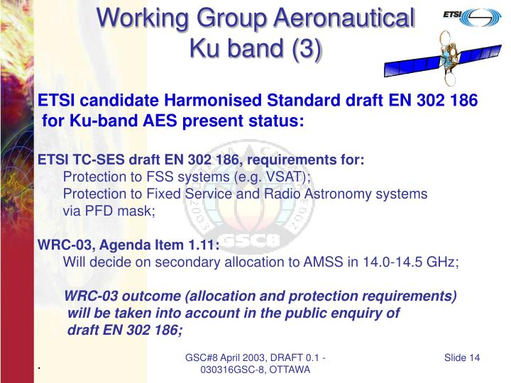 Working Group Aeronautical
