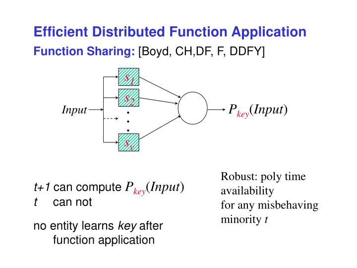 Efficient Distributed Function Application