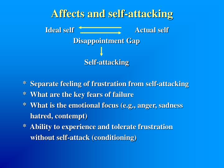 Affects and self-attacking