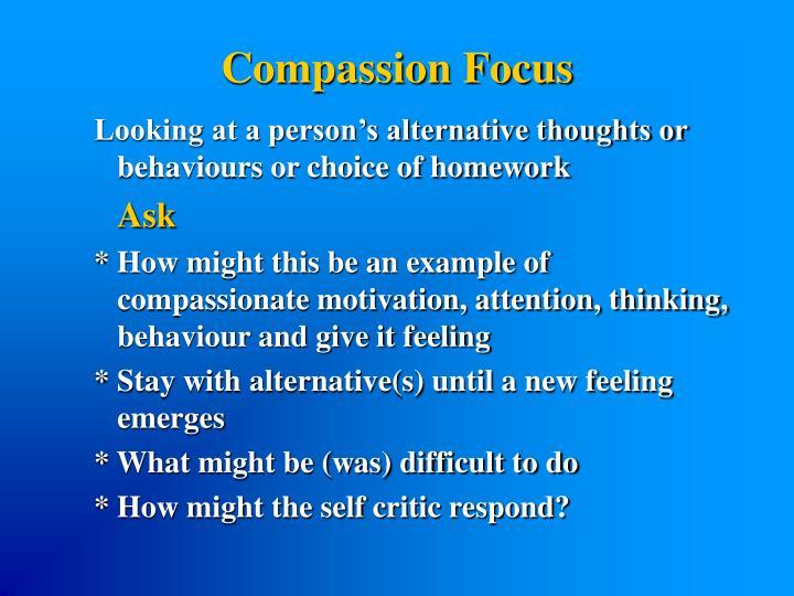 Compassion Focus