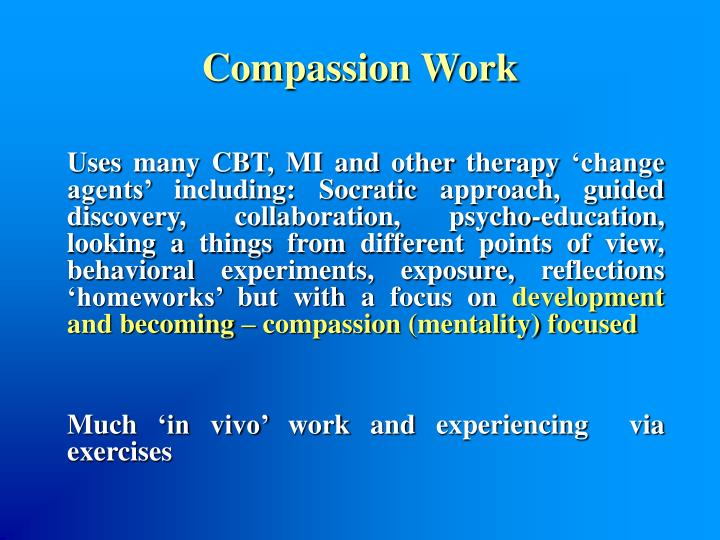 Compassion Work