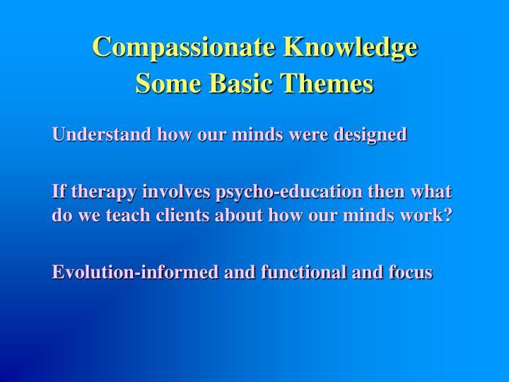 Compassionate Knowledge