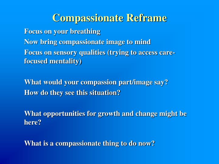 Compassionate Reframe