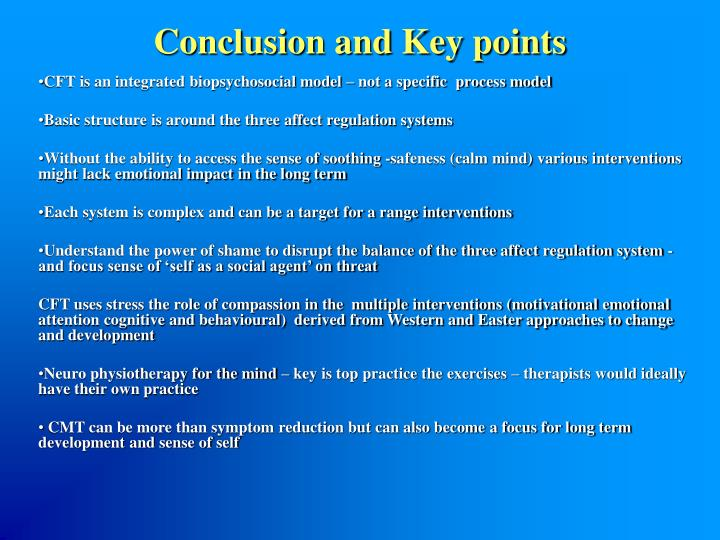 Conclusion and Key points