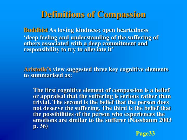 Definitions of Compassion