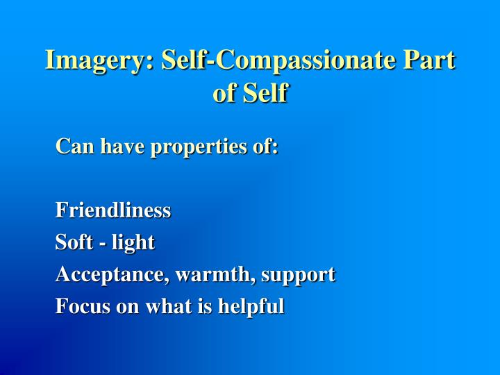 Imagery: Self-Compassionate Part of Self