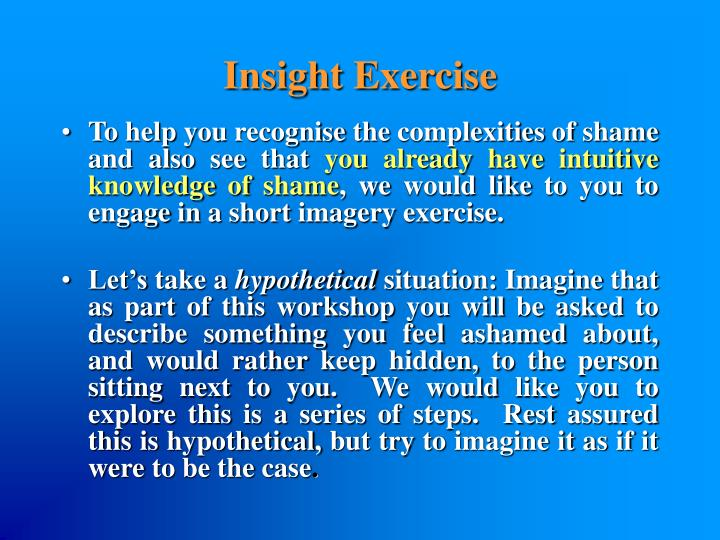 Insight Exercise
