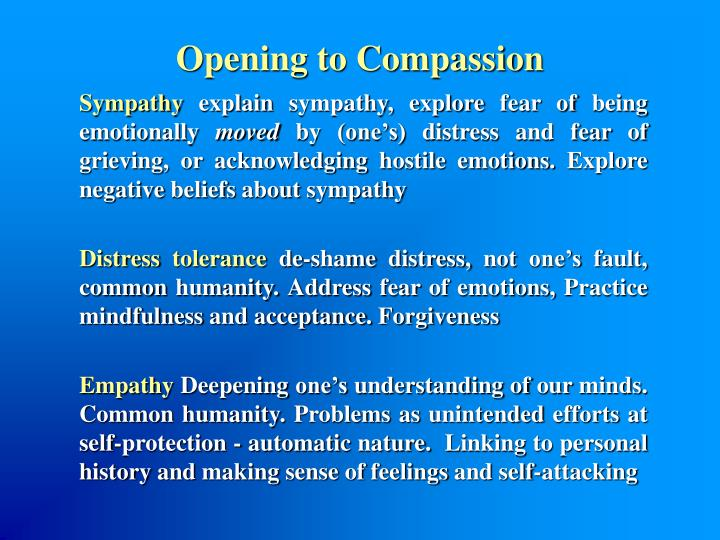 Opening to Compassion