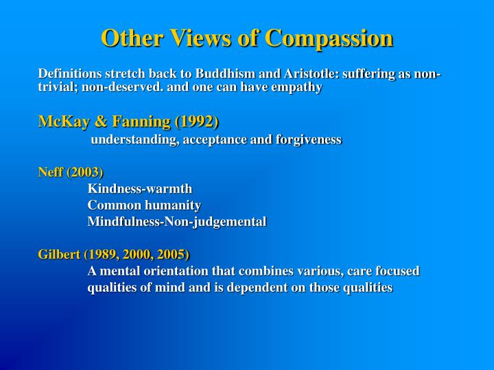 Other Views of Compassion