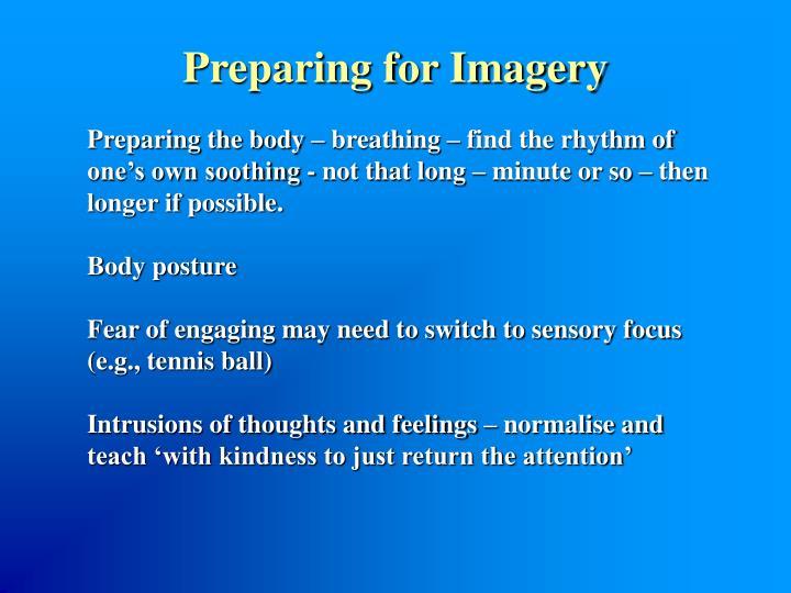 Preparing for Imagery