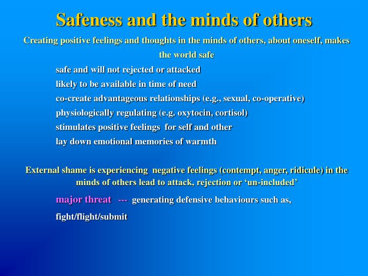 Safeness and the minds of others