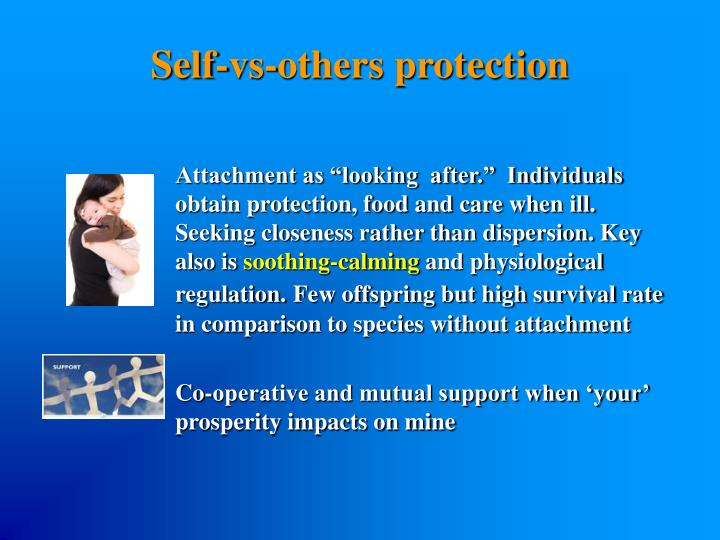 Self-vs-others protection