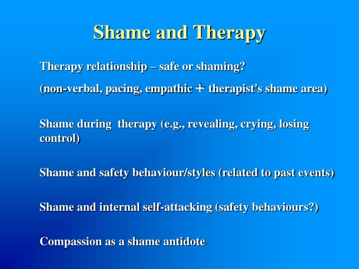 Shame and Therapy