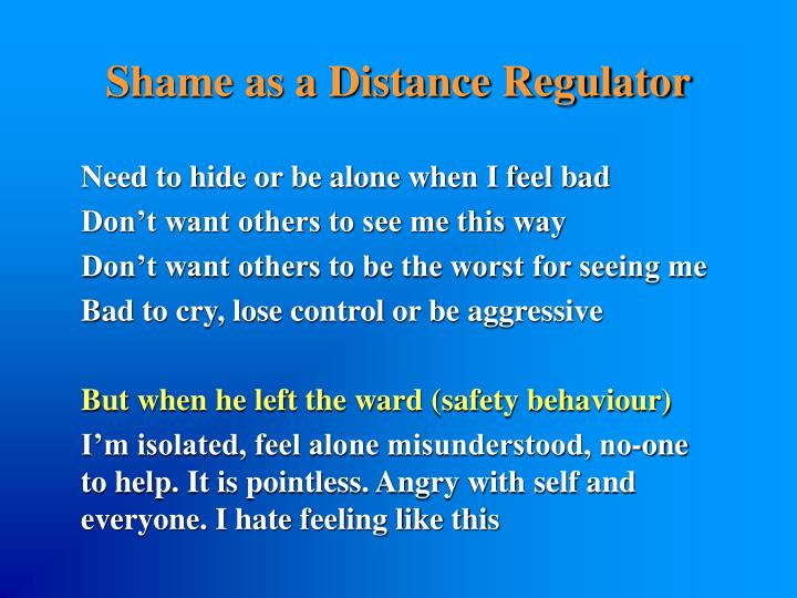 Shame as a Distance Regulator