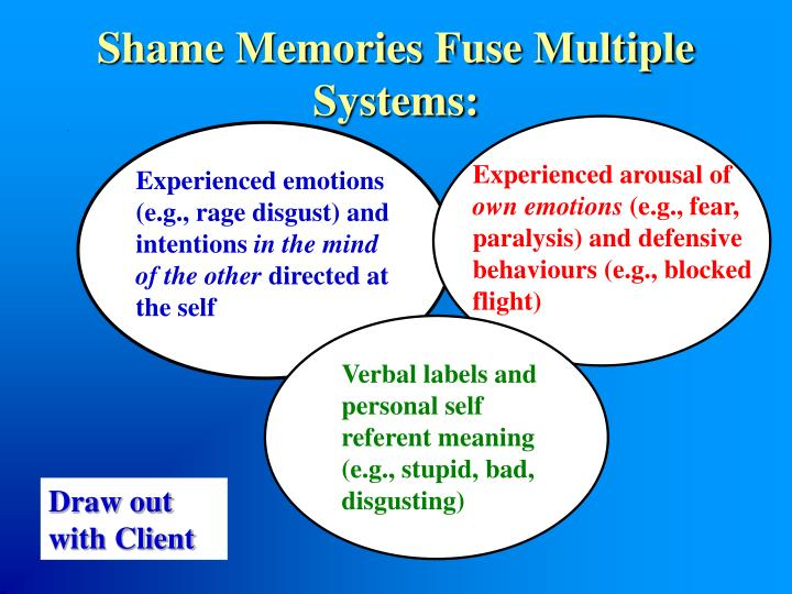 Shame Memories Fuse Multiple  Systems: