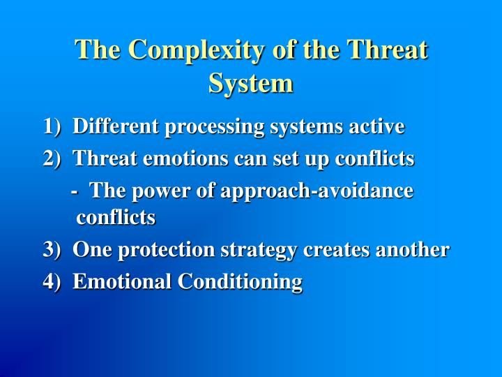 The Complexity of the Threat System