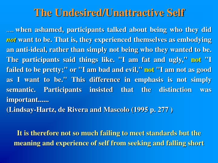 The Undesired/Unattractive Self