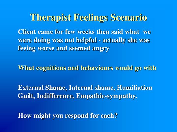 Therapist Feelings Scenario