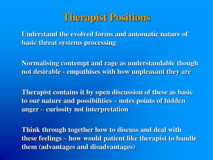 Therapist Positions