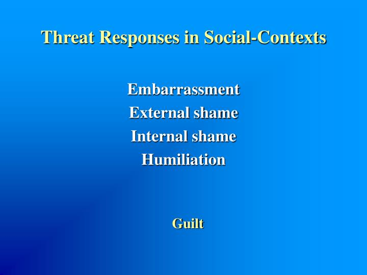 Threat Responses in Social-Contexts
