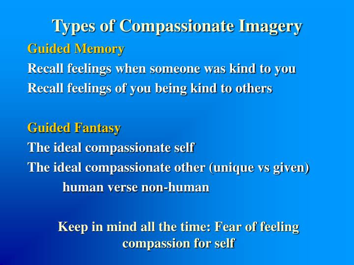 Types of Compassionate Imagery