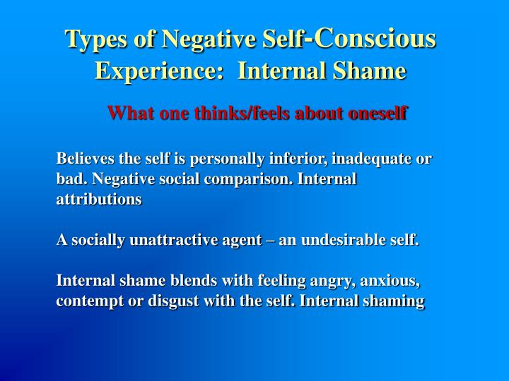 Types of Negative Self