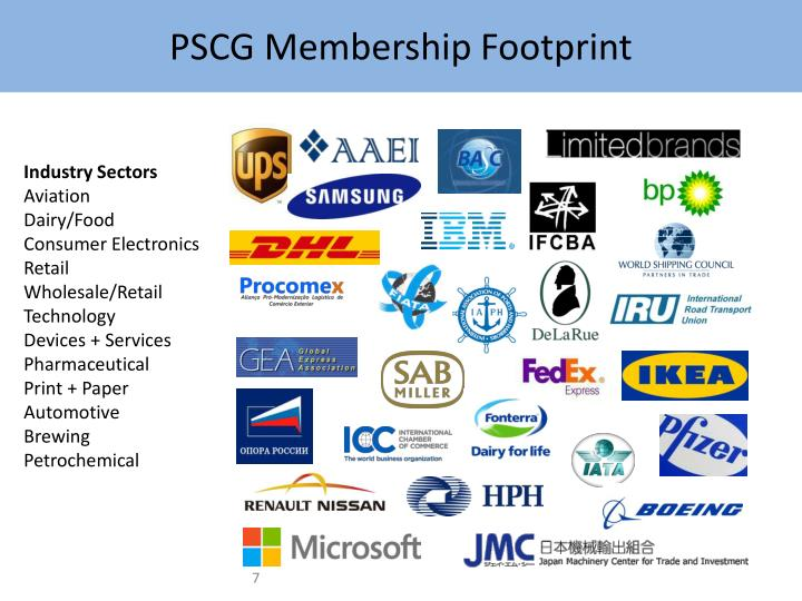 PSCG Membership Footprint