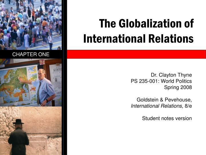 globalization of international relations Globalization is the process of countries, through increasing contact,  communication and trade, coming closer together to create a single global  system in which.