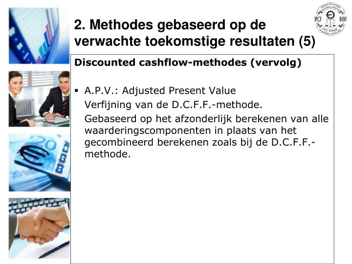 Discounted cashflow-methodes (vervolg)