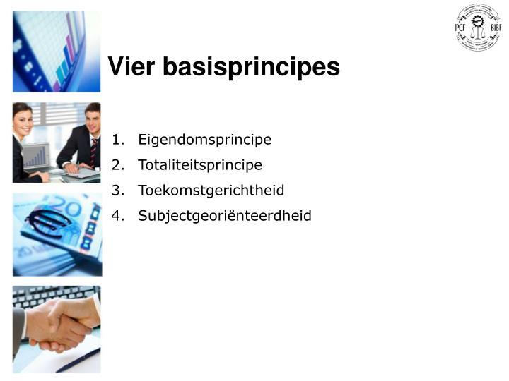 Vier basisprincipes